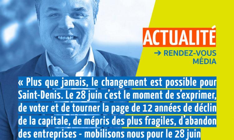 Plus que jamais, le changement est possible pour Saint-Denis. Le 28 juin, c'est le moment de s'exprimer (...)