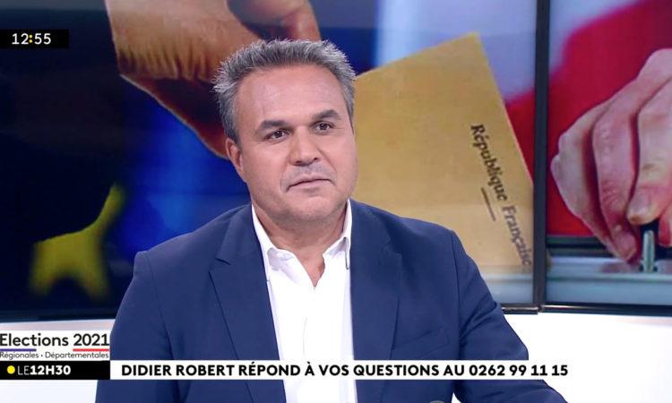 Didier ROBERT était au JT de 12h30 de Réunion la 1ère ce mercredi 23 juin suite au 1er tour des Régionales. (...)